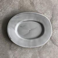 亀田文 オーバル皿(小)ススグレー