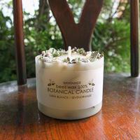 ミツロウボタニカルキャンドル(花冠 オフホワイト&グリーン)