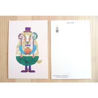 ポストカード(羊とオレンジ)