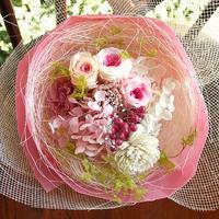 プリザーブドフラワー ミニブーケ (S) ホワイトデー 母の日 お誕生日 プレゼント インテリアに!