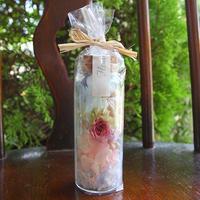 プリザーブドフラワー ミニボトルギフト(L) ブルーホワイトピンク