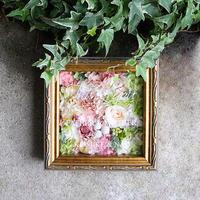 プリザーブド&ドライフラワーフレーム(シルバー18.6×18.6cm)お誕生日、母の日、父の日、ご結婚、ご出産、 ご退職などのプレゼントに!  のコピー