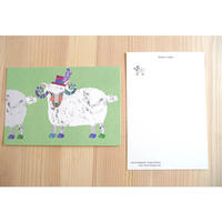 ポストカード(帽子の羊)