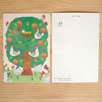 ポストカード 《オレンジの木とにわとり》