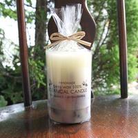 ボタニカルキャンドル 蜜蝋(ミツロウ)100%(ローズ&ラベンダー)5.8×8cm