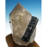 非加熱シトリン・インディゴグリーンライト共生 原石  TOL-007