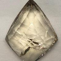美晶堂オリジナル 非加熱天然シトリン水晶(黄水晶)・かっこみカット S-QU-006