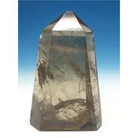 マスタークリスタル 天然非加熱シトリン水晶レインボー入り 六角中ポリッシュ(研磨) CT-003