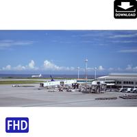 4042004 ■ 沖縄本島 空港 飛行機
