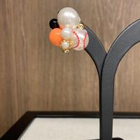 野球ボール(球団応援カラー・オレンジ×黒)
