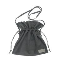 巾着型ショルダーバッグ(チャコール)
