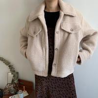 ウールボアジャケットコート