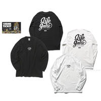 THE GAME L/S T-shirts(A) White or Black+ドリンクチケット1枚 SET