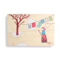ポストカード「シニッカさん どうしたの?」6. 洗濯