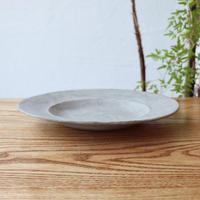 変形リム皿 モザイクシルバー