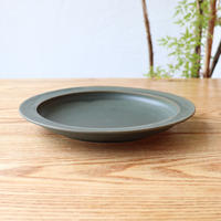 N▶400(エヌ・ヨンヒャク)  リム皿 7寸 グリーン