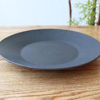 リム皿(9寸)SUMIブラック