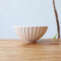 N▶400(エヌ・ヨンヒャク)  しのぎ飯碗(小)ホワイト