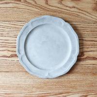 ピューター皿(8寸)モザイクシルバー