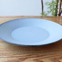 リム皿(9寸)ライトブルー