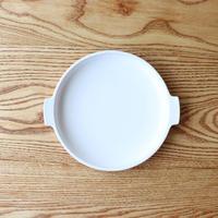取っ手付き皿 ホワイト