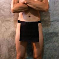 """ふんどし【リネンインブラック】 """"LINEN-IN-BLACK""""05 忍褌×ShiNoBi Samurai Underwear (素材:ピュアリネン)"""