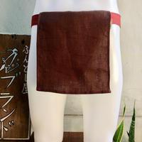 ふんどし 【麻 茶 麻柄レッド】 ShiNoBi Fundoshi Linen &Hemp Brawn01