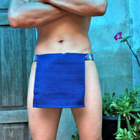 ふんどし【チェンマイ手織綿青02】 ShiNoBi Samurai Under Wear Blue Homespun Cotton02