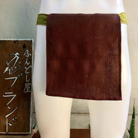 ふんどし 【麻&亜麻 茶 麻柄グリーン】 ShiNoBi Fundoshi Linen &Hemp Brawn02