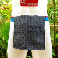 ふんどし【青ライン02】リネンヘンプ Shinobi Samurai Under Wear Blue02(LinenHemp) chanel line pattern