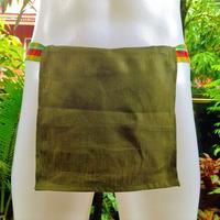 """ふんどし【リネンイングリーン】 """"LINEN-IN-GREEN"""" 忍褌×ShiNoBi Samurai Underwear (素材:ピュアリネン/Pure Linen)"""