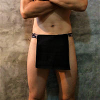 """ふんどし【リネンインブラック】 """"LINEN-IN-BLACK""""07 忍褌×ShiNoBi Samurai Underwear (素材:ピュアリネン)"""