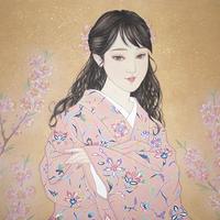 中西麻莉子「紅にほふ桃の花」F12号