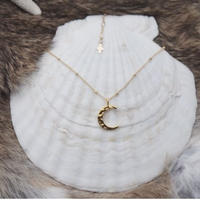 14kgf loose moon necklace