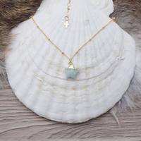 14kgf amazonite star necklace