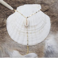 14kgf  shell horn rosario necklace