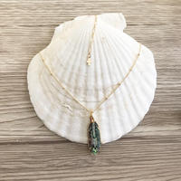 即納 14kgf Avalon shell feather necklace