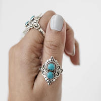 no.6 silver925×turquoise
