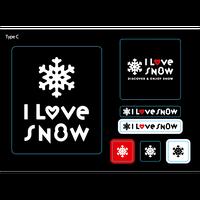 I LOVE SNOW ステッカー(Ver.2)  TypeC