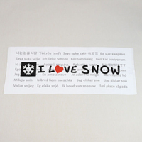 I LOVE SNOW Classic フェイスタオル限定版