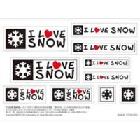 I LOVE SNOW Classic オフィシャルステッカー