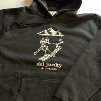 ski junky コラボパーカー(ブラック)