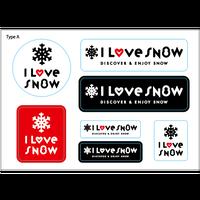I LOVE SNOW ステッカー(Ver.2)  Type A