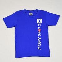 I LOVE SNOW Classic コットンキッズTシャツ(ロイヤルブルー)