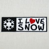 I LOVE SNOW Classic オフィシャルロゴワッペン