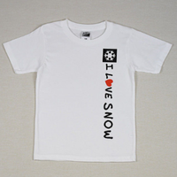 I LOVE SNOW Classic コットンキッズTシャツ(ホワイト)