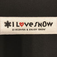 I LOVE SNOW オフィシャルロゴワッペン(横)