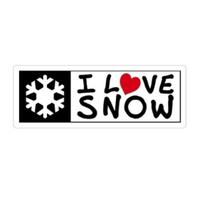 I LOVE SNOW Classic オフィシャルロゴマグネット