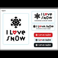 I LOVE SNOW ステッカー(Ver.2)  Type B