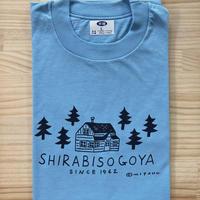 オリジナルTシャツ【小屋】ブルー